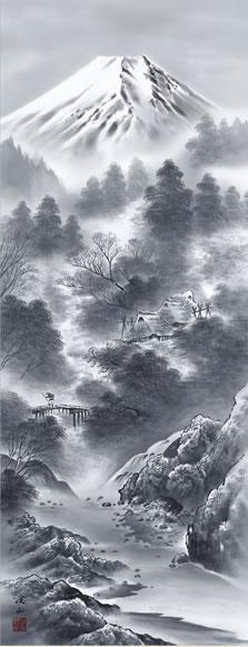 b2-024 富嶽情景 伊藤渓山 拡大
