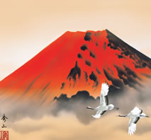 b6-033 赤富士飛翔 鈴村秀山 拡大