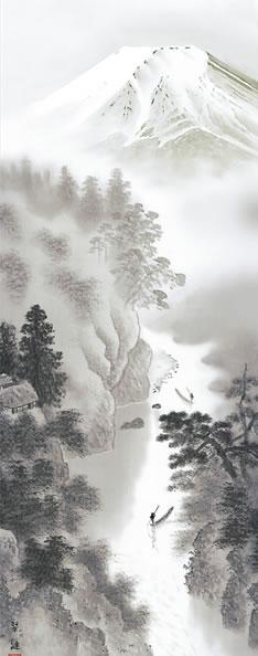 b9-101 富士山水 戸塚翠漣 拡大